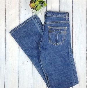 🌹Vintage Bisou Bisou Blue Denim Flair Jeans Sz 10